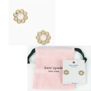 NWT Kate Spade Full Circle Cubic Zirconia Earrings